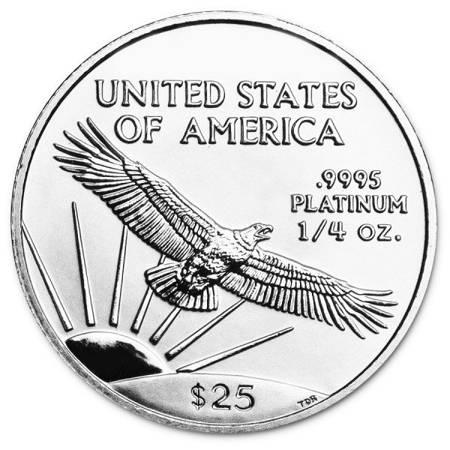 Platynowa Moneta Amerykański Orzeł 1/4 uncji 24h