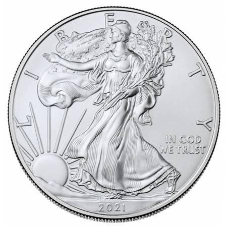 Srebrna Moneta Amerykański Orzeł - NOWY MOTYW 1 uncja 24h