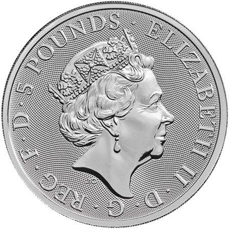 Srebrna Moneta Bestie Królowej: The Unicorn 2 uncje 24h