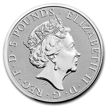 Srebrna Moneta Bestie Królowej: Yale Of Beaufort 2 uncje 24h