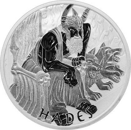 Srebrna Moneta Bogowie Olimpu: Hades 1 uncja LIMITOWANA
