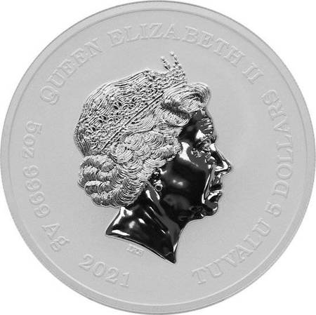 Srebrna Moneta Bogowie Olimpu: Hades 5 uncji LIMITOWANA