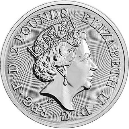 Srebrna Moneta Buckingham Palace 1 uncja 2019r 24h