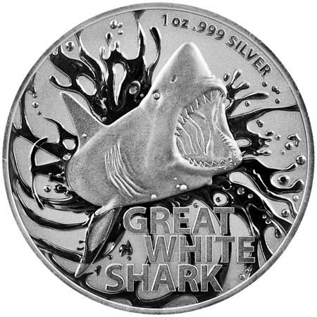 Srebrna Moneta Great White Shark 1 uncja LIMITOWANA
