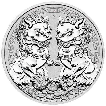 Srebrna Moneta Guardian Lions DOUBLE PIXIU 1 uncja LIMITOWANA