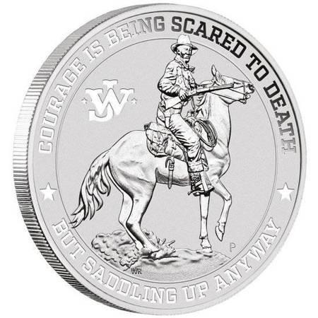 Srebrna Moneta John Wayne 1 uncja LIMITOWANA