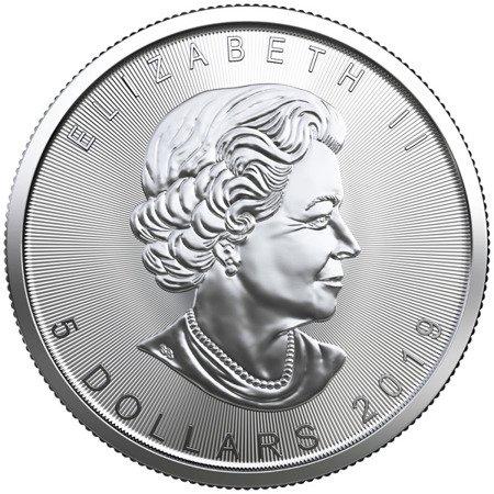 Srebrna Moneta Kanadyjski Liść Klonowy 1 uncja 24h