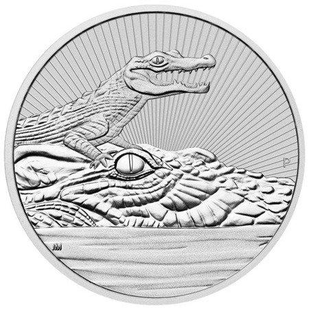 Srebrna Moneta Krokodyl 2 uncje 24h