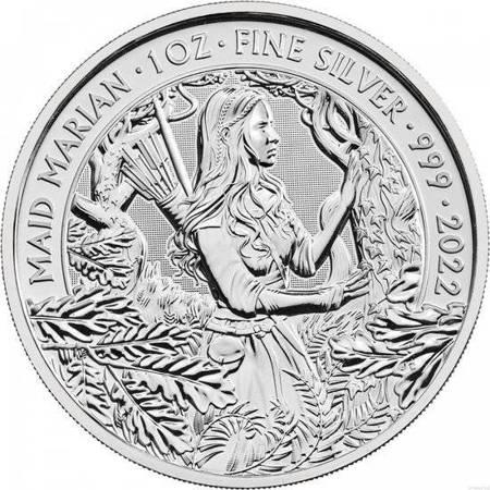 Srebrna Moneta Maid Marian 1 uncja 24h