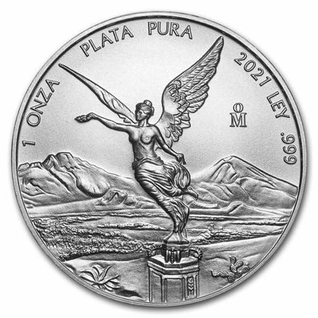 Srebrna Moneta Meksykańska Bogini Wolności 1 uncja