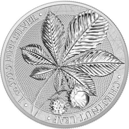 Srebrna Moneta Mythical Forest - Liść Kasztanowca 1 uncja 24h