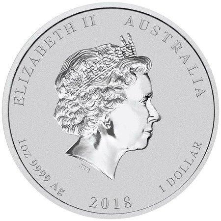 Srebrna Moneta Rok Psa 1 uncja 24h