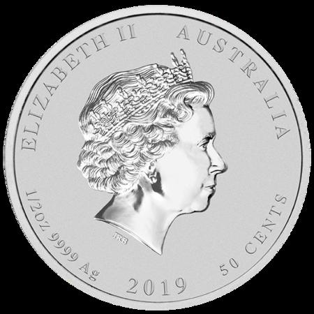 Srebrna Moneta Rok Świni 1/2 uncji
