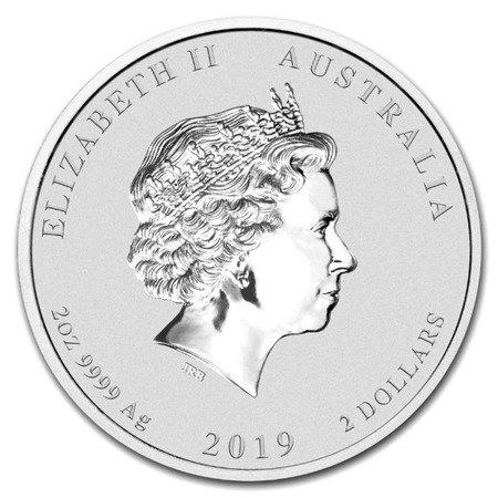 Srebrna Moneta Rok Świni 2 uncje