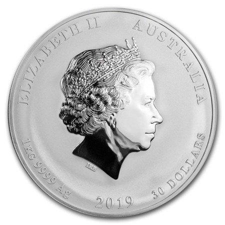 Srebrna Moneta Rok Świni 5 uncji 24h