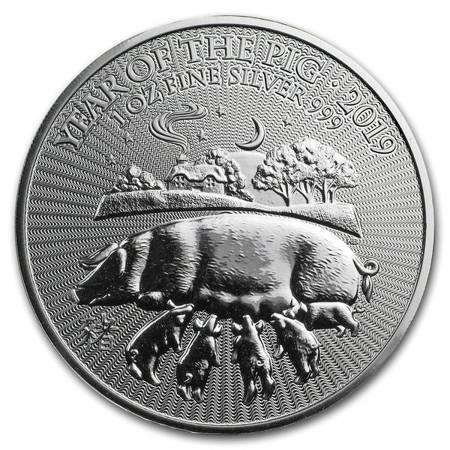 Srebrna Moneta Rok Świni (Wielka Brytania) 1 uncja 24h