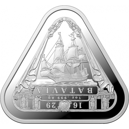 Srebrna Moneta Shipwreck Batavia Triangular 1 uncja 24h