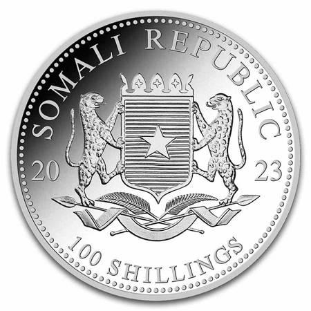 Srebrna Moneta Somalijski Leopard 1 uncja 24h