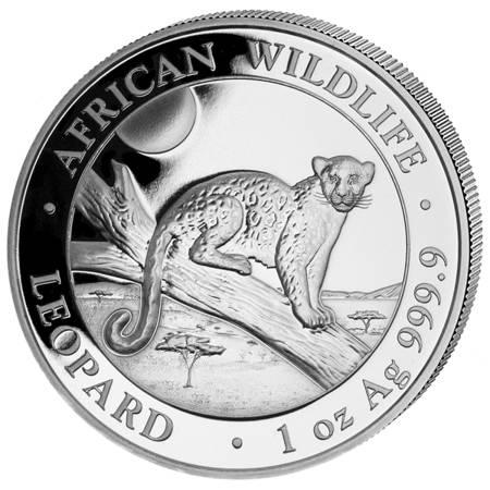 Srebrna Moneta Somalijski Leopard 1 uncja