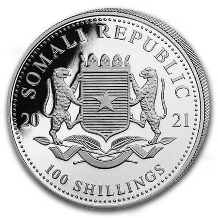 Srebrna Moneta Somalijski Słoń 1 uncja