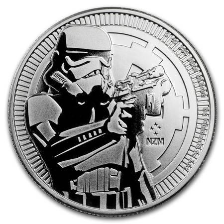 Srebrna Moneta Star Wars - Szturmowiec 1 uncja 2018r 24h