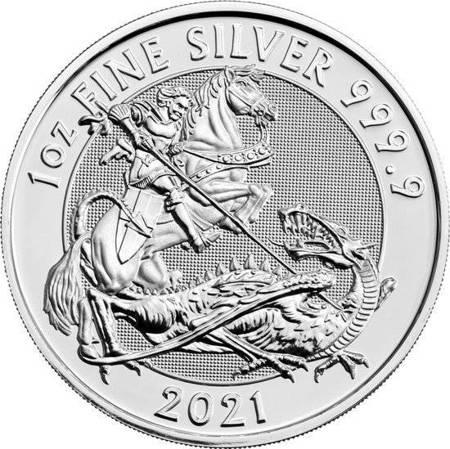 Srebrna Moneta Święty Jerzy i smok 1 uncja 24h