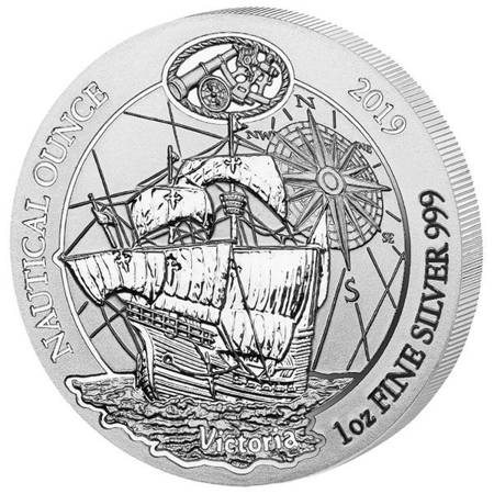 Srebrna Moneta Victoria - Nautical Ounce 1 uncja 2019r 24h