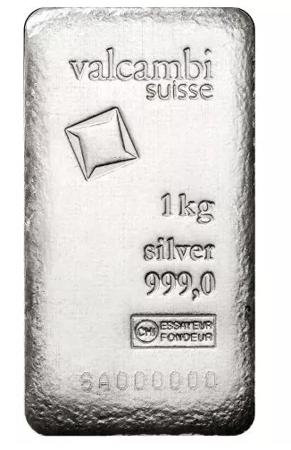 Srebrna Sztabka Valcambi 1000g (1kg)