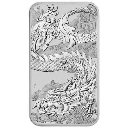 Srebrna Sztabko-Moneta Australijski Smok 1 uncja 24h