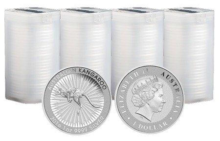 Zestaw Srebrna Moneta Australijski Kangur 100x1oz