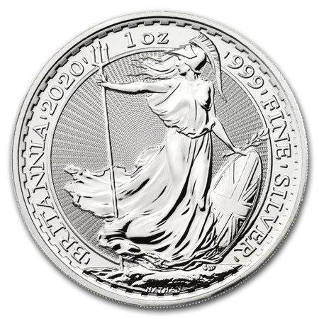 Zestaw Srebrna moneta Britannia 100x1oz