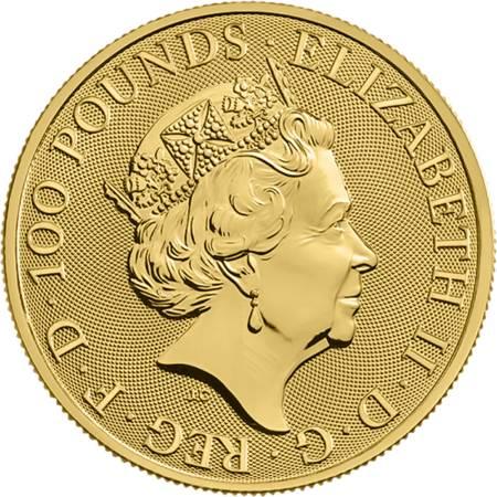 Złota Moneta Bestie Królowej: Biały Chart z Richmond 1 uncja 24h