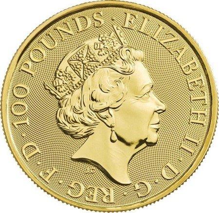 Złota Moneta Bestie Królowej: Sokół Plantagenetów 1 uncja