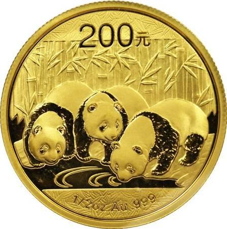 Złota Moneta Chińska Panda 1/2 uncji 24h