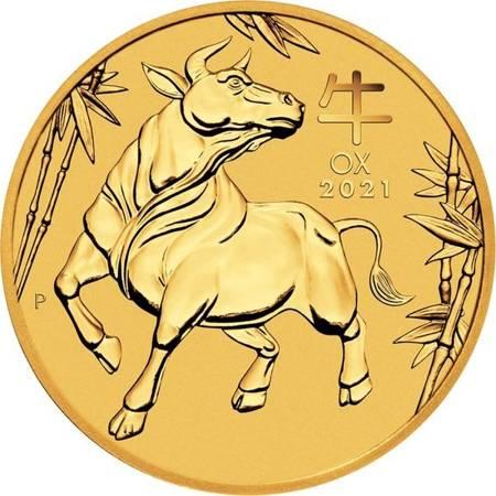 Złota Moneta Rok Bawoła 1 uncja 24h