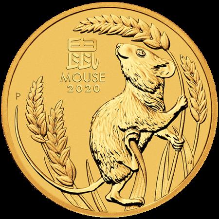 Złota Moneta Rok Myszy 1/10 uncji 24h