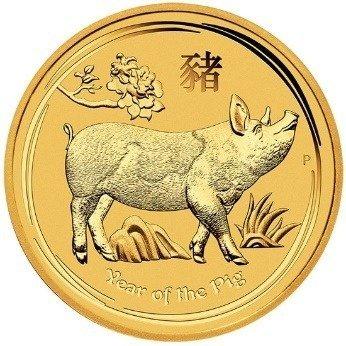 Złota Moneta Rok Świni 1/10 uncji