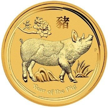 Złota Moneta Rok Świni 1/10 uncji 24h