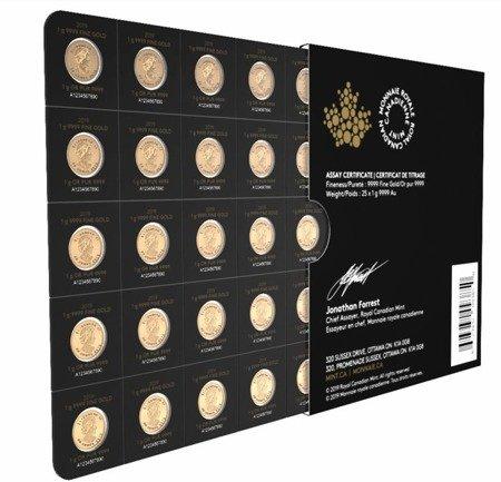 Złoty Kanadyjski Liść Klonowy Maplegram 25x1g 24h